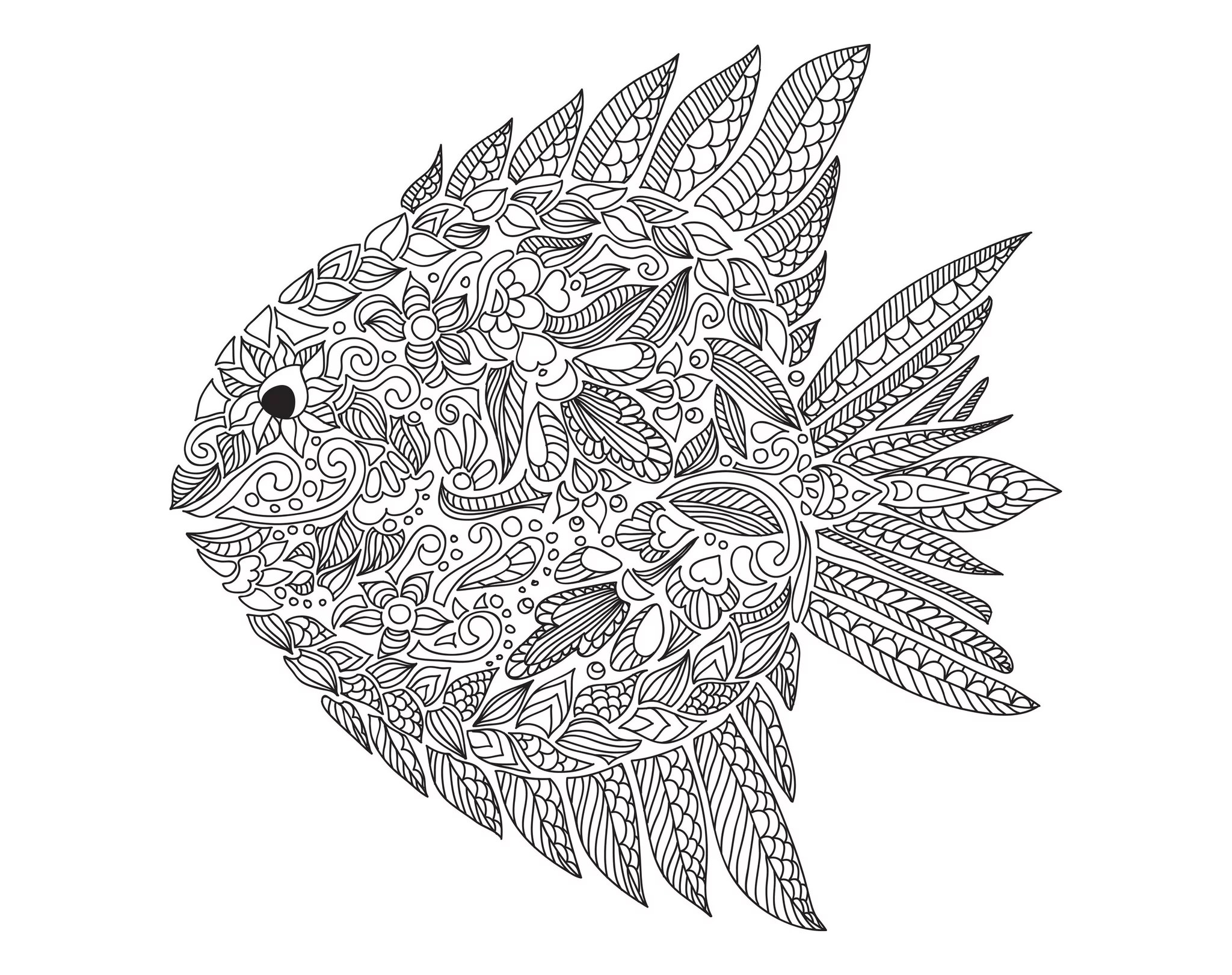 Get The Coloring Page Fish
