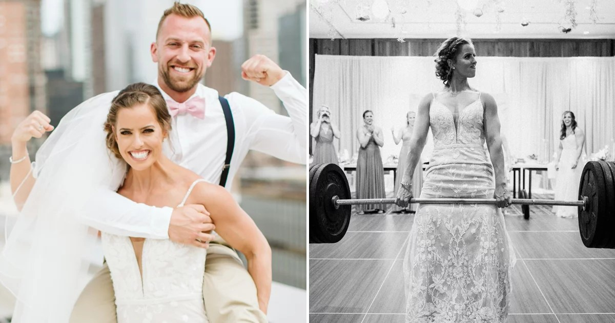 These CrossFitters Had a Deadlift Contest at Their Wedding ceremony, and the Photos Are Epic