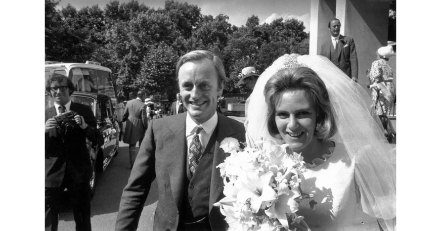 Camilla and Captain Andrew Parker Bowles Wed at the Guards ...
