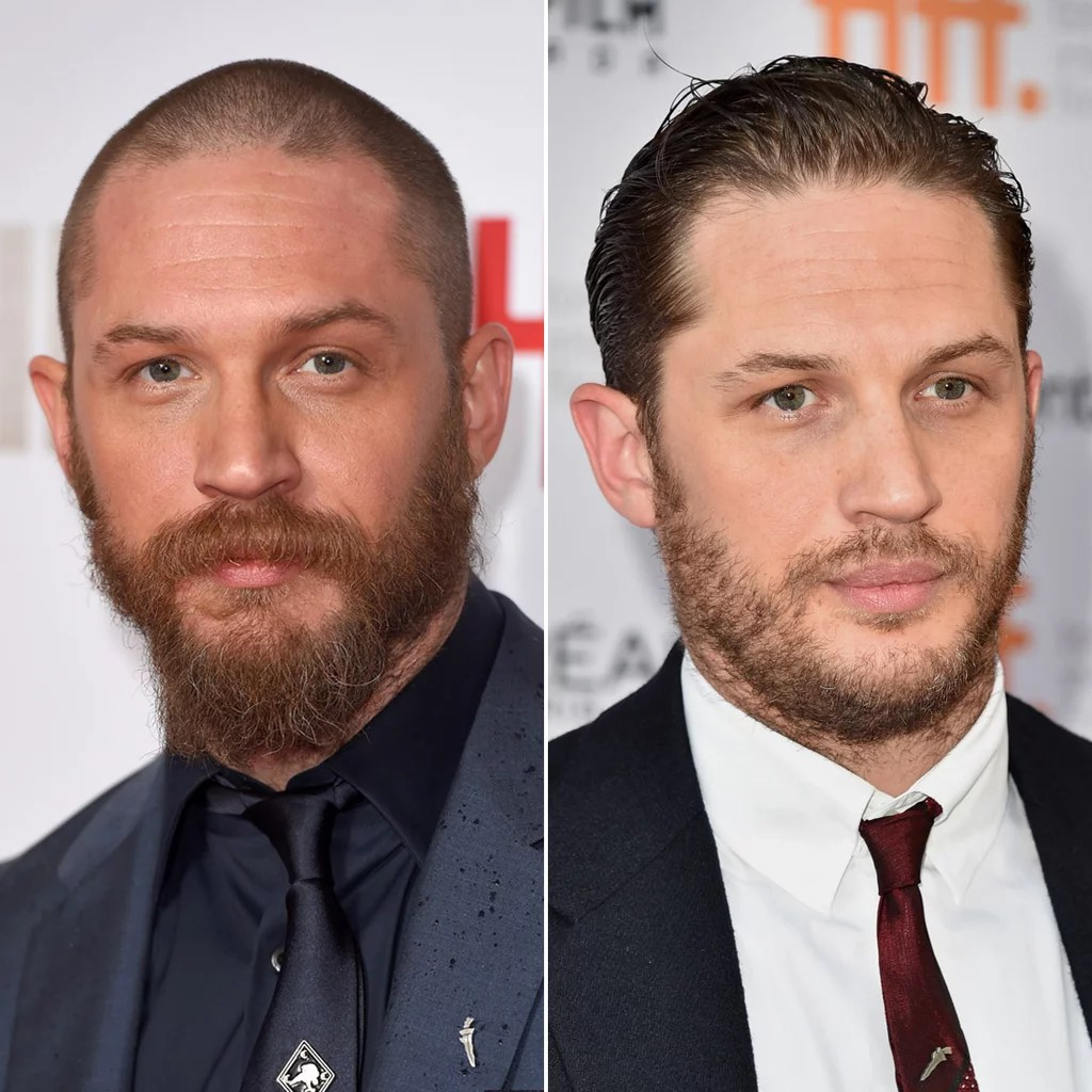 Tom Hardy Male Celebrities With Hair Vs Shaved Heads