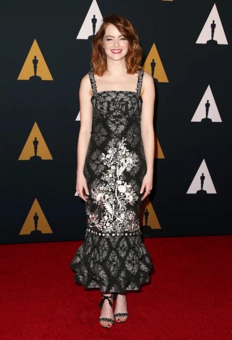 Emma Stone Wearing Erdem
