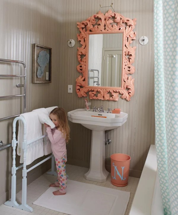 totally chic kids bathroom | kids bathroom decor ideas | popsugar