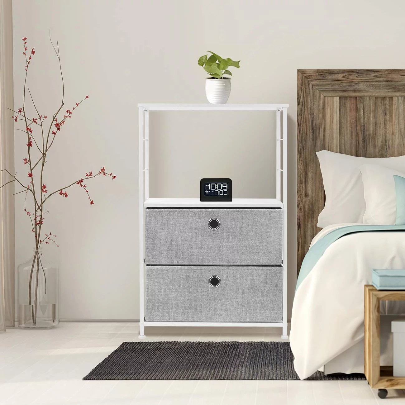Sorbus Nightstand 2 Drawer Shelf Storage 33 Cool Dorm