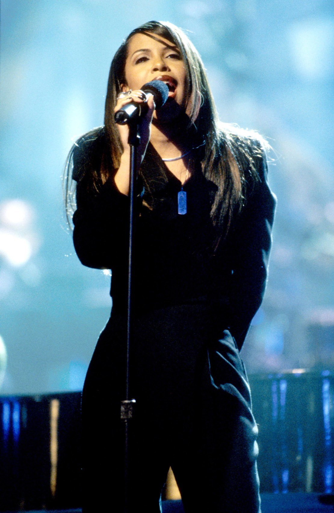 Aaliyah during TNT Presents - A Gift of Song - New York - January 1, 1997 in New York City, New York, United States. (Photo by KMazur/WireImage)