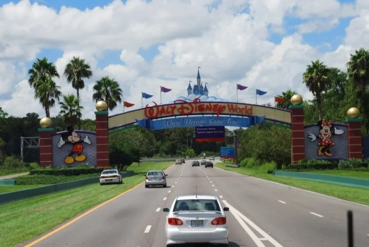 Walt Disney World Highway Entrance