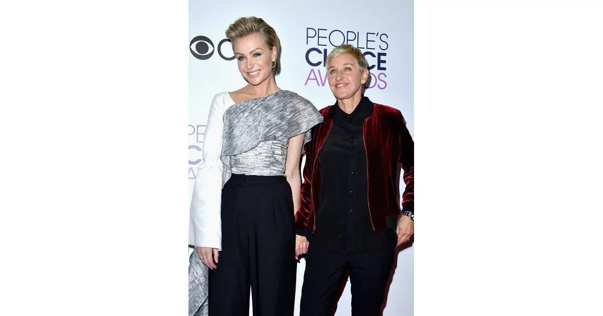 Ellen DeGeneres Portia De Rossi 2017 People's Choice
