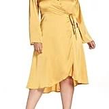 Lost Ink Satin Wrap Dress