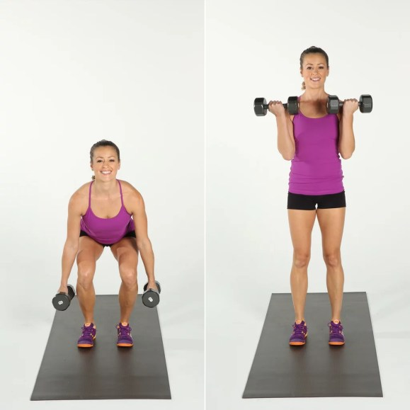 Image result for squat bicep curl popsugar