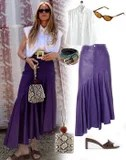 I Want to Be Wearing That: An Asymmetrical Maxi Skirt and Mules
