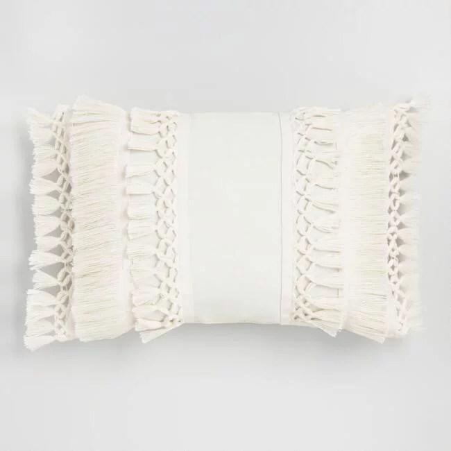 ivory fringe indoor outdoor lumbar