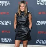 Jennifer Aniston's Not Sweating in This Little Leather Minidress, but Uh, I Am