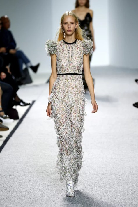 The Giambattista Valli show at Paris Fashion Week was on Oct. 3.