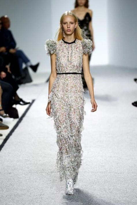 The Giambattista Valli show at Paris Fashion Week was on Oct. 3.