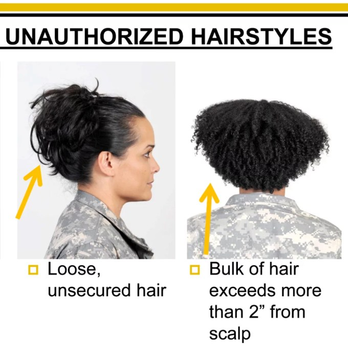 women with natural hair petition army regulation 670-1   popsugar beauty