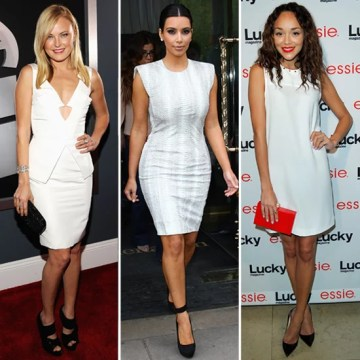 Celebrities in White Dresses and Black Shoes   POPSUGAR Fashion Celebrities in White Dresses and Black Shoes