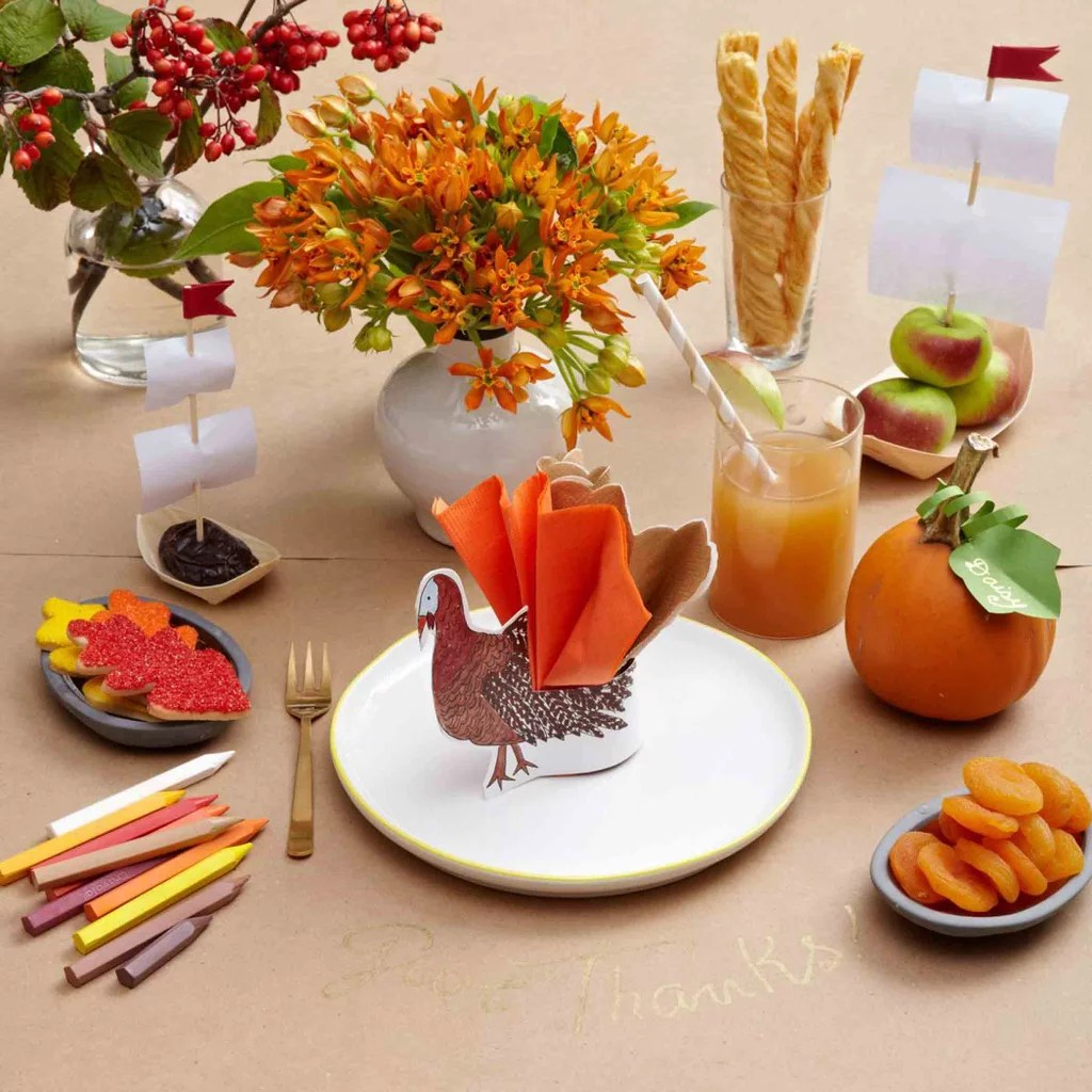 Ideas For Kids Thanksgiving Table