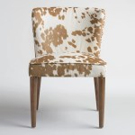 Tan Hued Cow Print Upholstery Chair 300 For Set Of 2 Be
