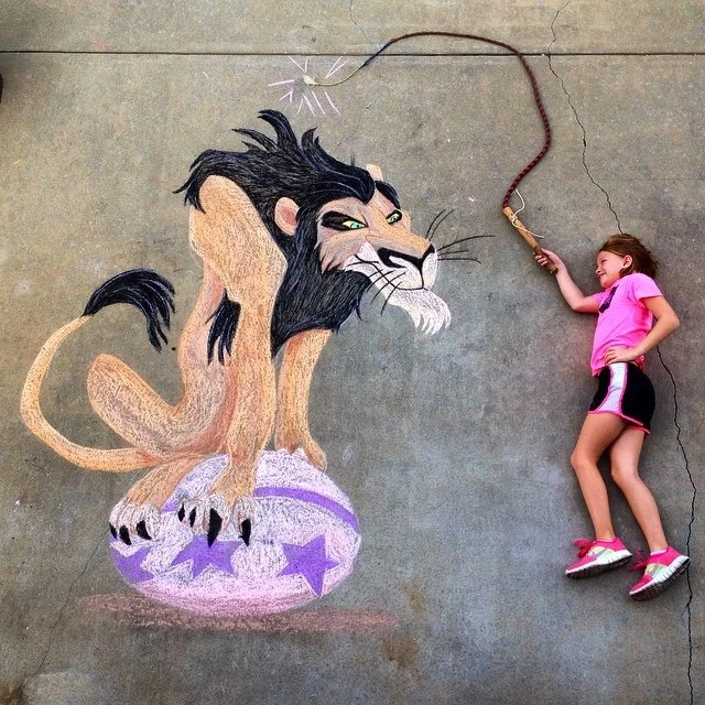 Scar Lion King Chalk Drawing Amazing Images From Chalk