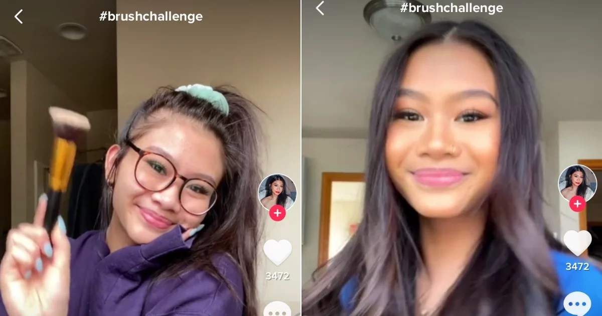 "The ""Brush Challenge"" on TikTok Features SO Many Amazing Glow-Ups Including Ours"