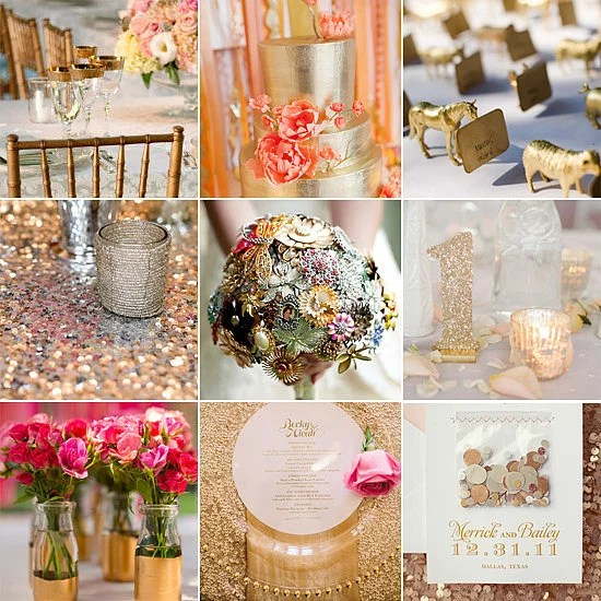 hoping to strike gold with your big day decor popsugar home has rounded up