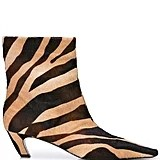Khaite The Ankle Zebra Print Boots