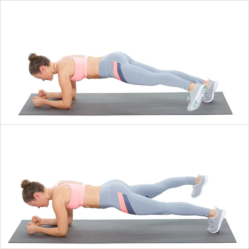 Elbow Plank With Side Step