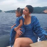 Kylie and Stormi Wore Matching Blue Dresses in Italy, and I Can't Fathom the Cuteness
