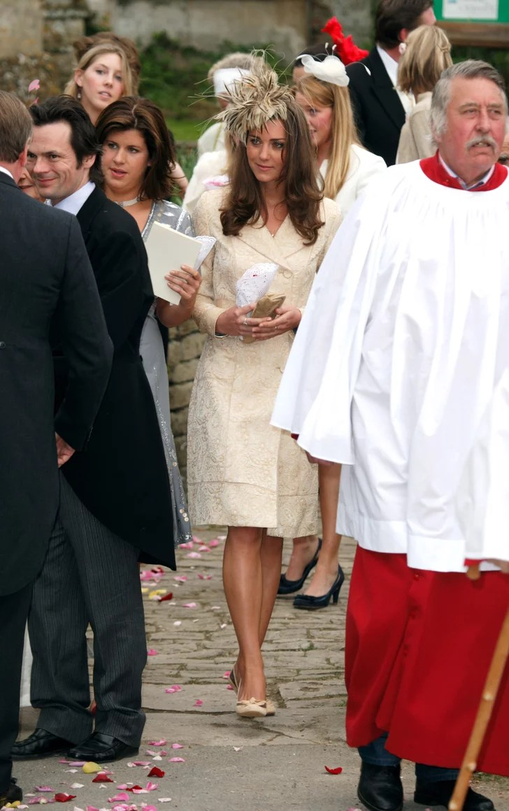 Kate Wearing Her Yellow Coat For Laura Parker Bowles And
