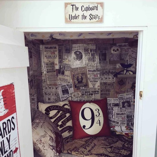 Harry Potter Home Decor   POPSUGAR Dad Re creates Harry Potter s Cupboard Under the Stairs