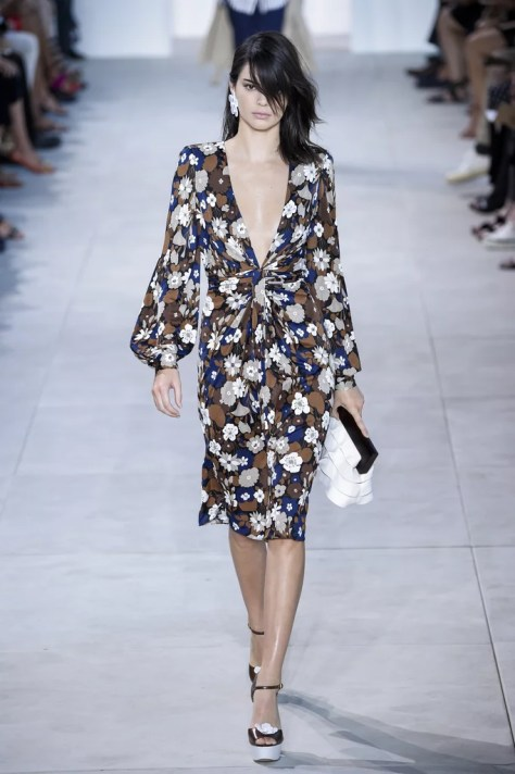 Kendall Jenner was the one who rocked this particular bishop-sleeved silhouette on the Michael Kors Collection Spring 2017 runway.