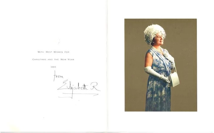 From The Queen Mother 1965 Royal Family Christmas Cards