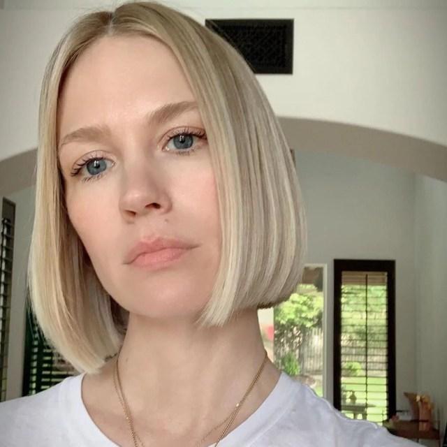 january jones bob haircut 2019   popsugar beauty australia