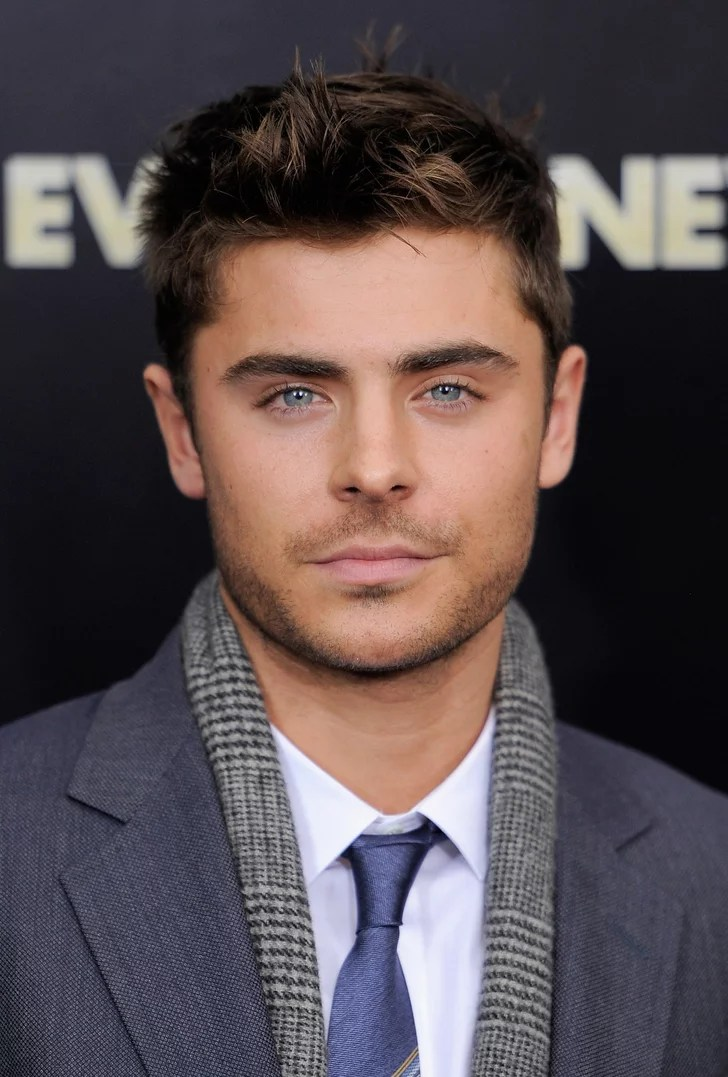 Zac Efrons Eyes Popped With The Help Of His Blue Tie