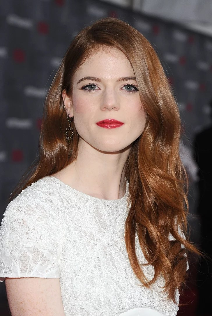Rose Leslie British Actress Hair And Makeup Looks For