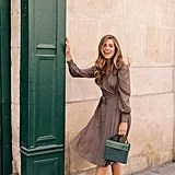 Gal Meets Glam Collection Darcy Shawl Collar Faux Wrap Dress