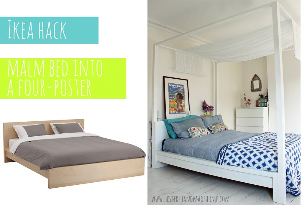 Four Poster Bed Ikea Bed Hacks POPSUGAR Home Photo 4
