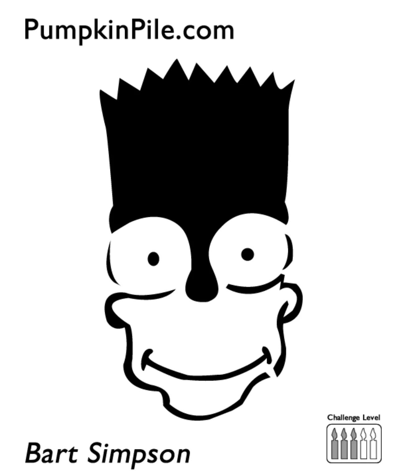 Smiley Face Pumpkin Stencil