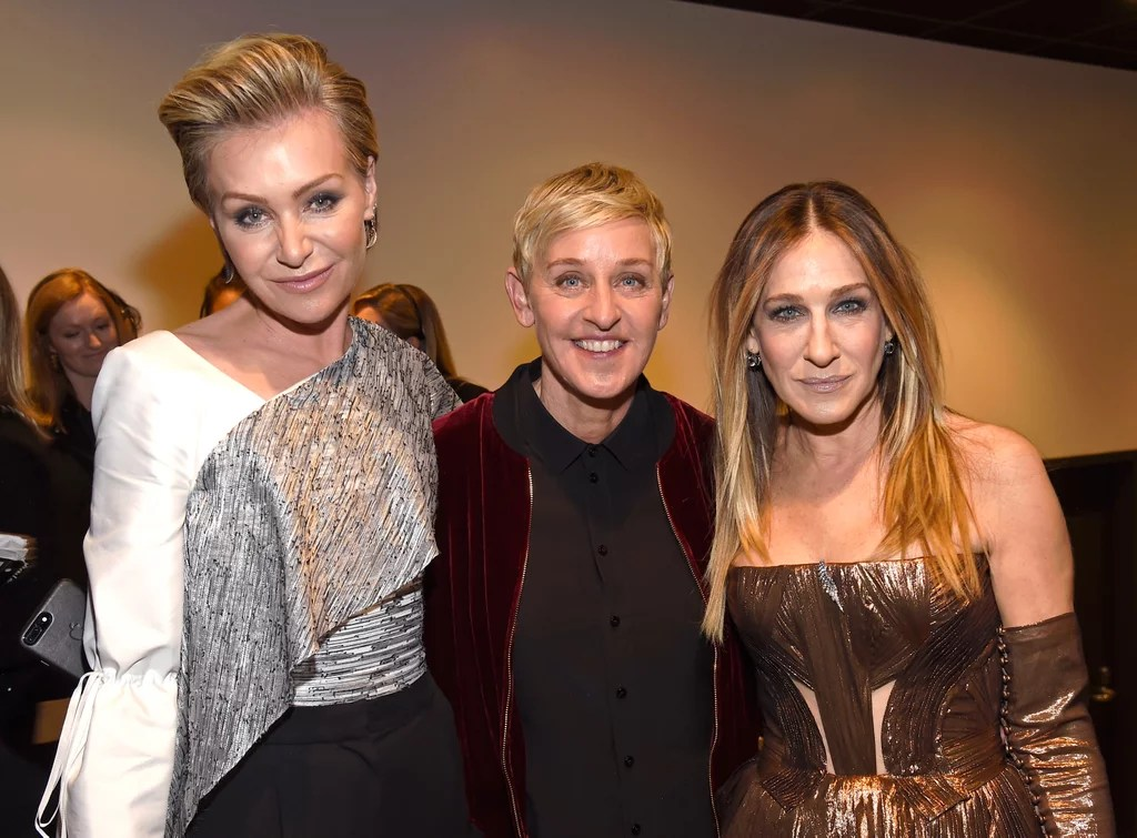 Pictured: Sarah Jessica Parker, Portia De Rossi, And Ellen