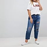 Asos Curve Recycled Florence Authentic Straight Leg Jeans