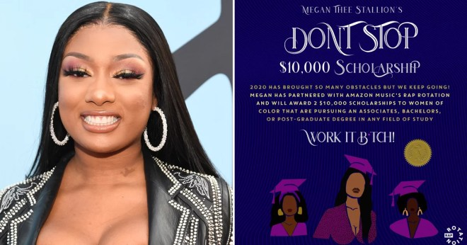 Megan Thee Stallion's Don't Stop College Scholarship Details | POPSUGAR  Celebrity