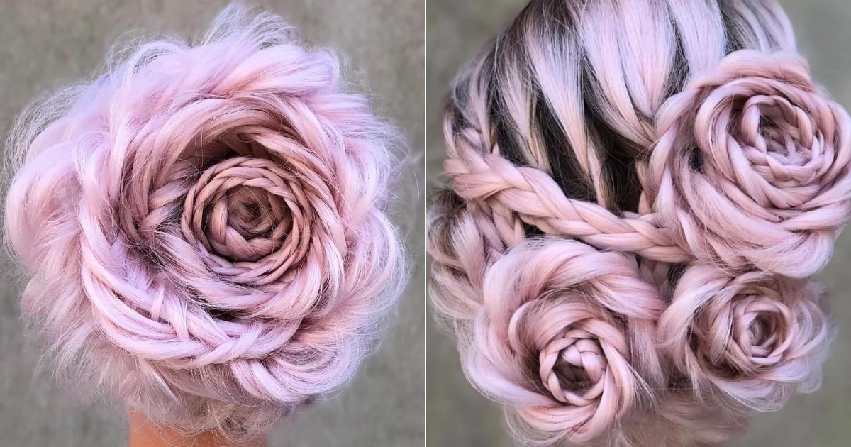 How to Recreate the Braided Rose Hairstyle That's All Over Instagram