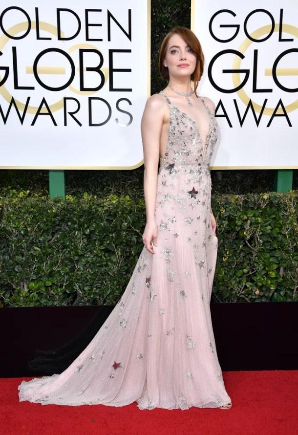 Resultado de imagem para Emma stone no golden globe 2017