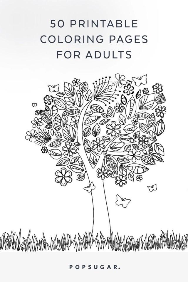 Free Printable Adult Coloring Pages  POPSUGAR Smart Living