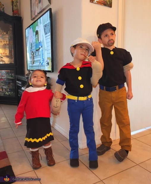 olive oyl and popeye halloween costumes