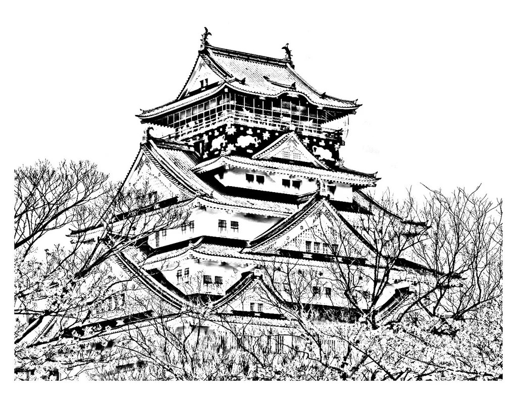 Get The Coloring Page Japanese Temple