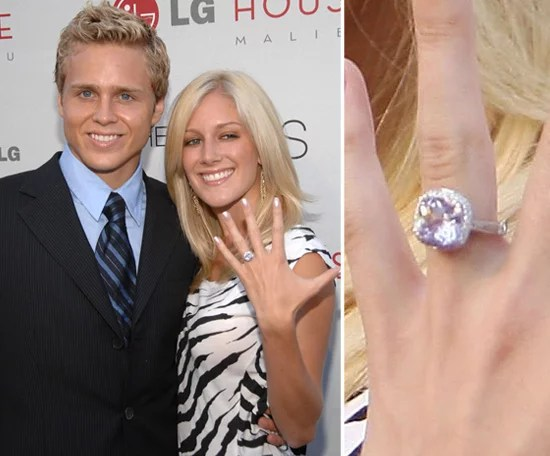Heidi Montag Celebrity Engagement Ring Pictures