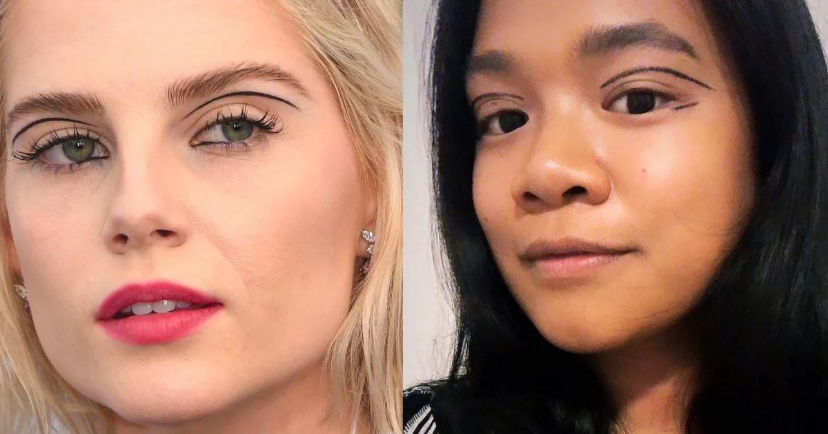 One editor explains exactly how to recreate the floating eyeliner