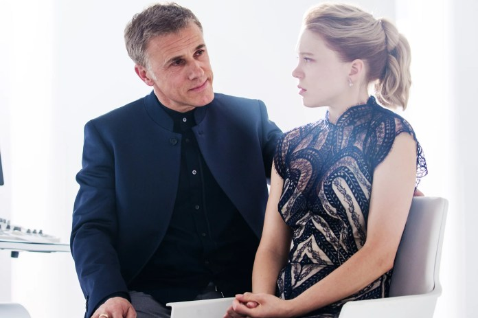 SPECTRE, from left: Christoph Waltz, Lea Seydoux, 2015. ph: Jonathan Olley/Columbia Pictures/Courtesy Everett Collection