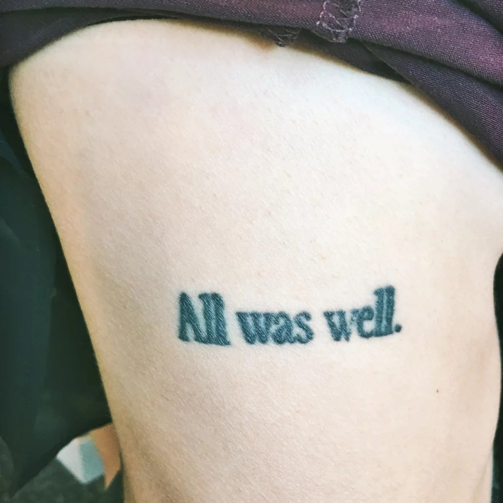 All Was Well Harry Potter Tattoo Meaning Popsugar Love Sex