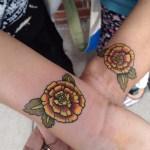 Shoulder July Birth Flower Tattoo Elegant Arts Tattoo